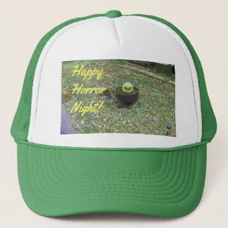 Happy Horror Night Green Halloween Pumpkin Trucker Hat