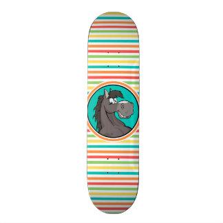 Happy Horse; Bright Rainbow Stripes Skate Decks