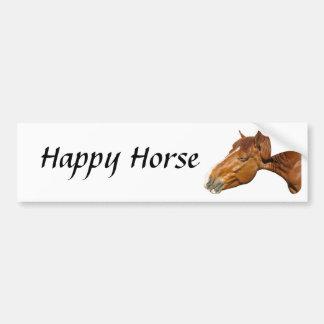 Happy Horse Car Bumper Sticker