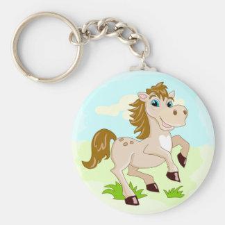 Happy Horse Cute Cartoon Horse Keychain