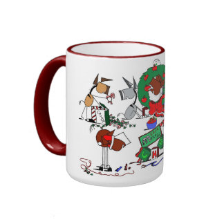 Happy Horse Farms Christmas Cartoon Mug