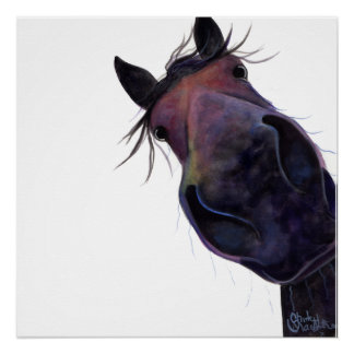 Happy Horse ' SLOE GIN GERRY ' Poster Print