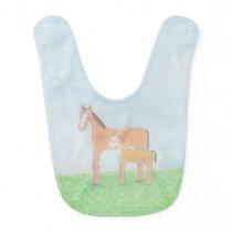 Happy Horses Baby Bib