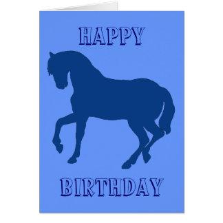 Happy Horsy Birthday - blue Card