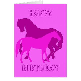 Happy Horsy Birthday - purple2 Card