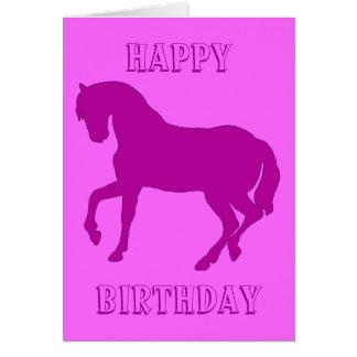 Happy Horsy Birthday - purple Card