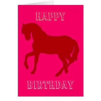 Happy Horsy Birthday - red Card