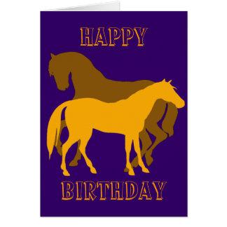 Happy Horsy Birthday - yellow2 Card