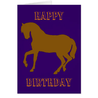 Happy Horsy Birthday - yellow Card