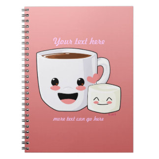 Happy Hot Cocoa and Marshmallow Notebook