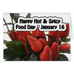 Happy Hot & Spicy Food Day Card January 16