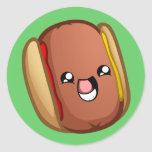 Happy Hotdog Sticker