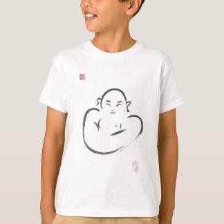 Happy Hotei Buddha Zen Brush Stroke T-Shirt
