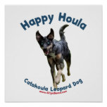 Happy Houla Dog Poster
