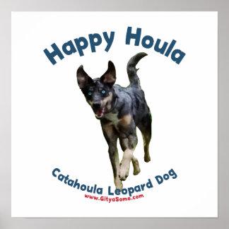 Happy Houla Dog Poster
