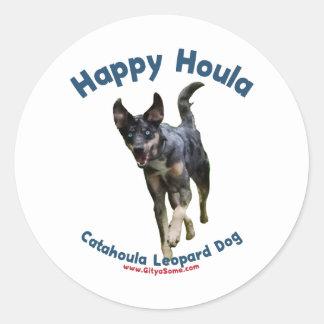 Happy Houla Dog Classic Round Sticker