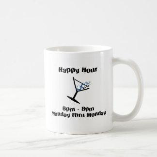 happy hour 24/7 365 classic white coffee mug