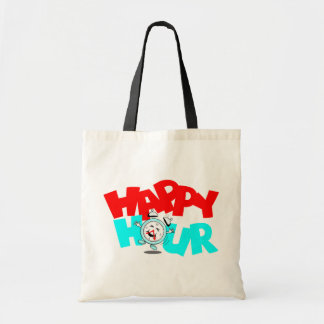 Happy Hour Anthropomorphic Fun Promo Gift Bag Tote