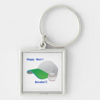 Happy Hour BaseBall Keychain