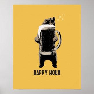 Happy Hour Bear & Beer Posters