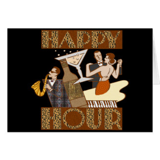 Happy Hour Beer T-shirts Gifts Greeting Card