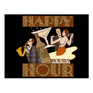 Happy Hour Beer T-shirts Gifts Postcard