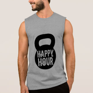 Happy Hour Big Kettlebell Gym Workout Sleeveless Shirt