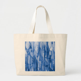Happy Hour Blue Curacao by Donna Fayad Large Tote Bag