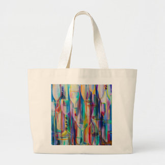 Happy Hour Bright by Donna Fayad ™ Large Tote Bag