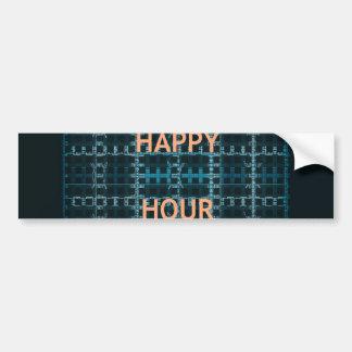 Happy hour Bumper Sticker Template Car