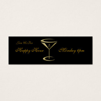 Happy Hour Business Martini Glass Cards