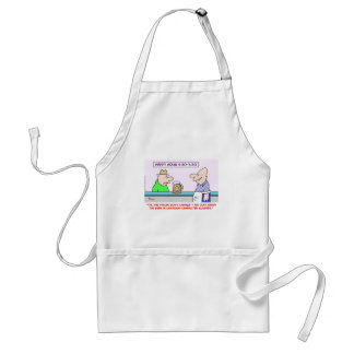 happy hour cartoon characters adult apron