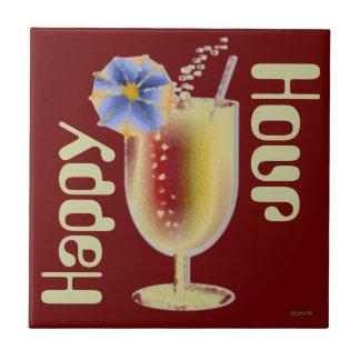 Happy Hour Cocktail Ceramic Tile