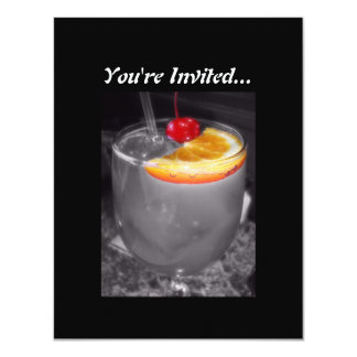 Happy Hour Cocktail Drink 4.25x5.5 Paper Invitation Card