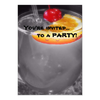 Happy Hour Cocktail Drink 5x7 Paper Invitation Card