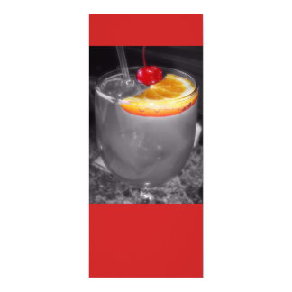 Happy Hour Cocktail Drink 4x9.25 Paper Invitation Card
