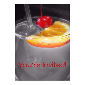 Happy Hour Cocktail Drink Custom Invitations