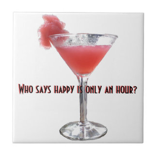 Happy Hour Cocktail Humor Tile