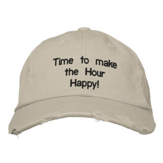 HAPPY HOUR EMBROIDERED HAT