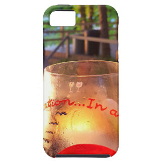 Happy Hour Firepit Through Wine Glass iPhone SE/5/5s Case