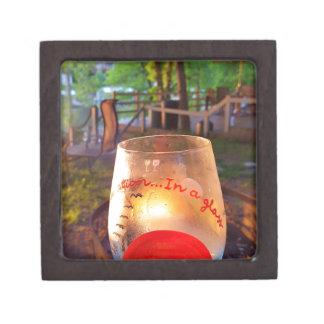 Happy Hour Firepit Through Wine Glass Jewelry Box