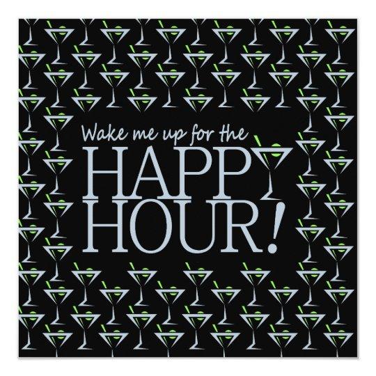 Happy Hour invitation, customize Card