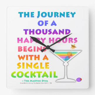 HAPPY HOUR JOURNEY WALL CLOCK