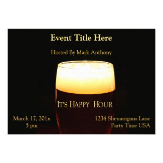 Happy Hour Lager Invitation