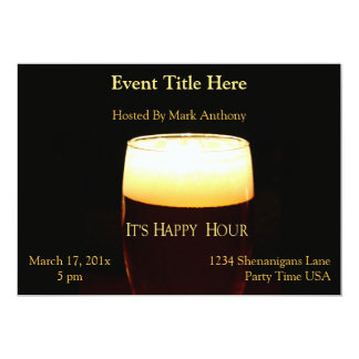 Happy Hour Lager Invitation