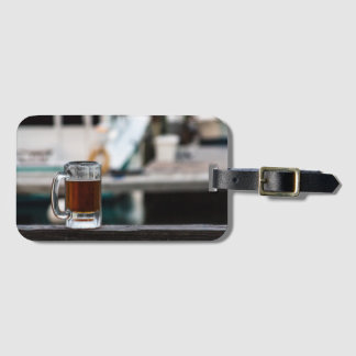 Happy hour luggage tag for the beer lover