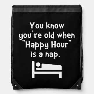 Happy Hour Nap Drawstring Backpack