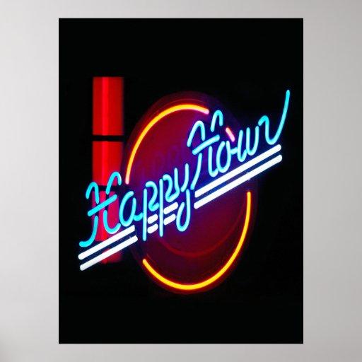 Happy Hour Neon Sign Poster | Zazzle