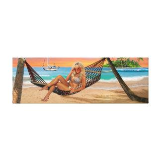 Happy Hour on the Beach Canvas Print