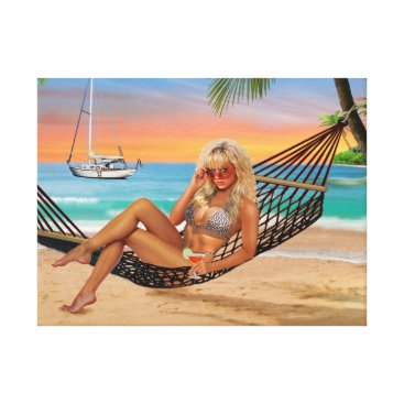 Happy Hour on the Beach Canvas Print